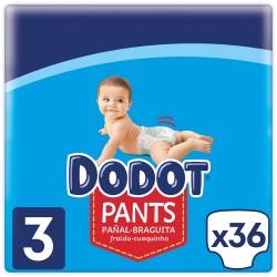 DODOT Pants Talla 3 (6-11 Kg) 36 unidades