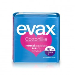 EVAX Cottonlike Normal Compresa Con Alas 16 Unidades
