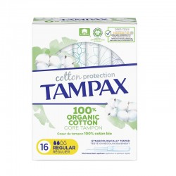 TAMPAX Organic Cotton Regular Tampones 16 Unidades