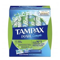 TAMPAX Pearl Compak Super Tampones 16 Unidades