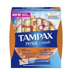 TAMPAX Pearl Compak Super Plus Tampones 16 Unidades