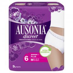 AUSONIA Discreet Plus Ropa Interior Talla M 9 Unidades
