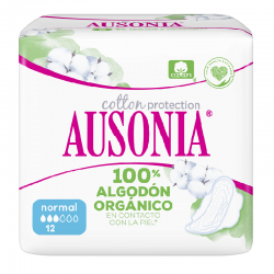 AUSONIA Cotton Protection Normal Compresa con Alas 12 Unidades