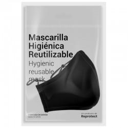Mascarilla R30 Neock Negra Lavable y Reutilizable 35 Lavados Adulto - REPROTECT