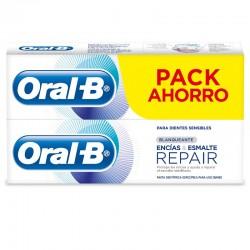 ORAL-B Repair Pasta de Dientes Blanqueante Encías y Esmalte 2x100ml PACK AHORRO