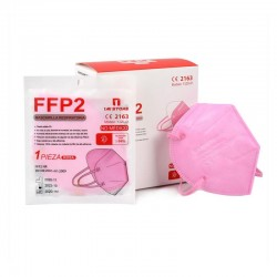 20x MASCARILLAS FFP2 Homologadas Color Rosa BFE 94% Sobres Individuales con Cierre Hermético - 1 MI STORE