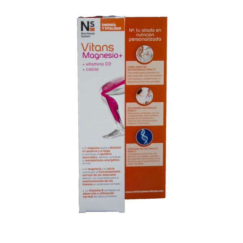 NS VITANS Magnesio+ Sabor Naranja 15 Comprimidos Efervescentes