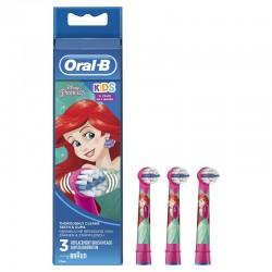 ORAL-B Kids Recambios Cepillo Eléctrico Infantil Princesas Disney 3 Recambios
