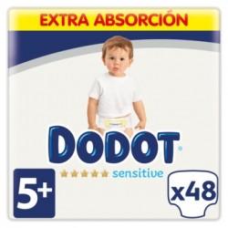 DODOT Pañales Sensitive Extra Jumbo Talla 5 (12-17 Kg) 48 Unidades