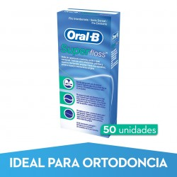 ORAL-B Superfloss Seda Dental Sin Cera 50 Hebras