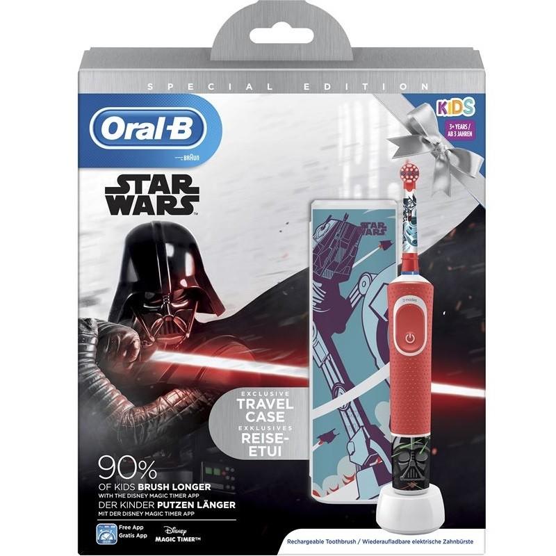 ORAL-B Cepillo Eléctrico Kids Star Wars + Funda de Viaje de REGALO
