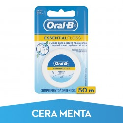 ORAL-B Seda Dental Essential Floss con Cera y Menta 50m