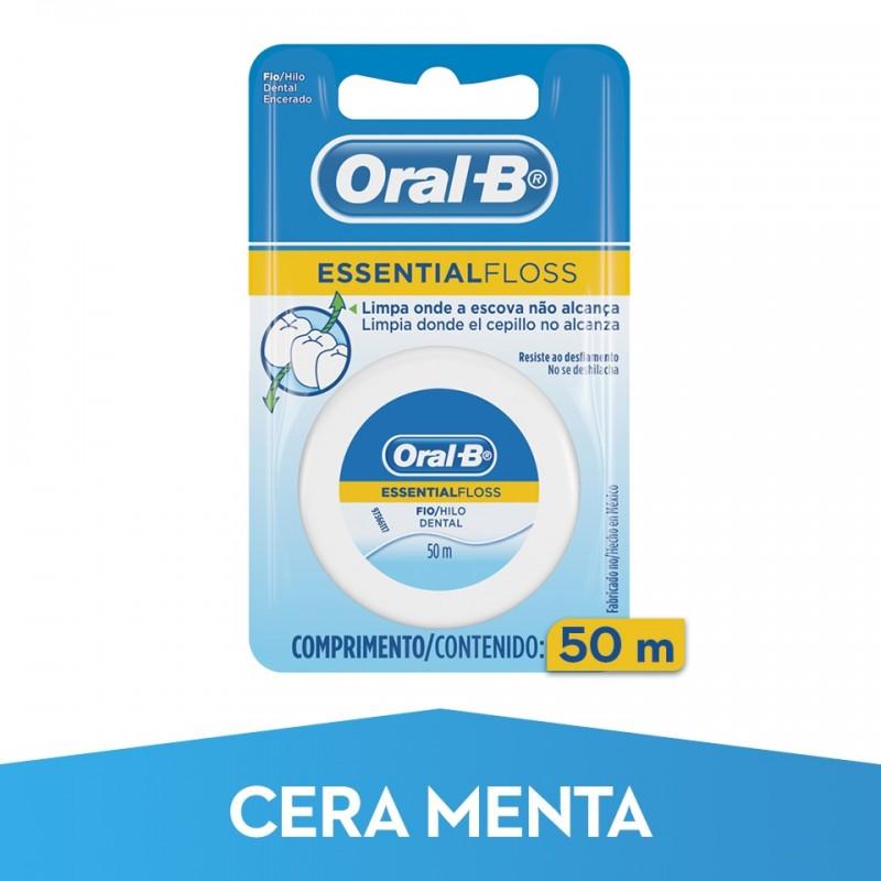 ORAL-B Seda Dental Essential Floss con Cera y Menta 50m