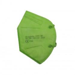 Mascarilla FFP2 Desechable Verde NR 5 Capas BFE 95% 1 unidad - PROMASK -