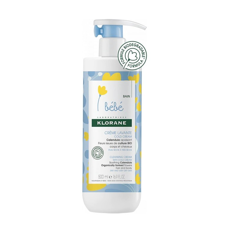 KLORANE BEBÉ Crema Limpiadora Cold Cream 500ml