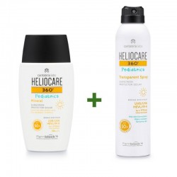 HELIOCARE 360º Pediatrics Pack Mineral SPF50 (50ml) + Pediatrics Spray Transparente 200ml