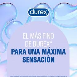 DUREX Preservativos Invisibles Extra Lubricados 12 unidades