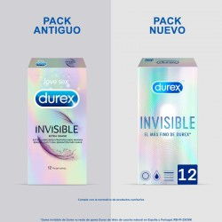 DUREX Preservativo Invisible Extra Sensitivo 12 unidades