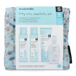 SUAVINEX Neceser de Viaje de Tela Azul Baby Care Essentials Set
