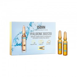 ISDIN Pack Live Young Rutina Hidratante: Fusion Water SPF 50 + Ampollas Hyaluronic Booster