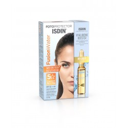 ISDIN Pack Fusion Water SPF 50 + Ampollas Hyaluronic Booster REGALO