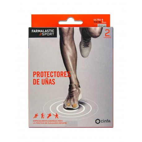 FARMALASTIC Sport Protectores de Uñas Talla M 2 Unidades