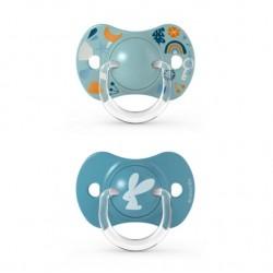 SUAVINEX Chupete SX Pro Tetina Fisiológica Silicona 0-6 Meses 2 Unidades (Conejo Azul)