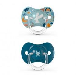 SUAVINEX Chupete SX Pro Tetina Fisiológica Silicona 18+ Meses 2 Unidades (Conejo Azul)