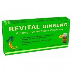 REVITAL Ginseng + Jalea Real + Vitaminas 20 Viales