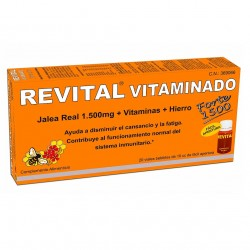 REVITAL Vitaminado Forte 1500 Jalea Real + Vitaminas + Hierro 20 Viales