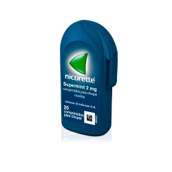 NICORETTE Supermint 2mg 20 Comprimidos para Chupar
