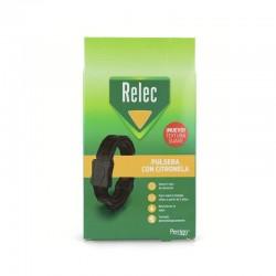 RELEC Pulsera Antimosquitos con Citronela Color Negro