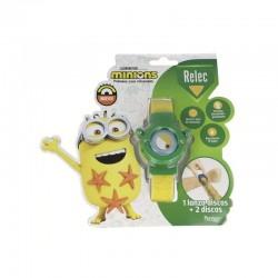 RELEC Pulsera Antimosquitos Infantil con Citronela Minions Verde