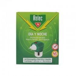 RELEC Antimosquitos Eléctrico Día y Noche Difusor Líquido +1 Recambio
