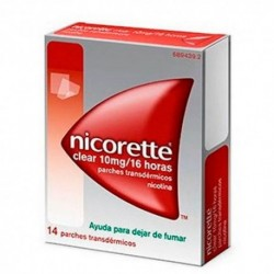 NICORETTE Clear 10mg/16h 14 Parches Transdérmicos