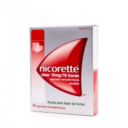 NICORETTE Clear 15mg/16h 14 Parches Transdérmicos