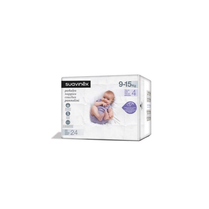SUAVINEX Pañales de Bebé Talla  Media (9-15kg) 24 Unidades