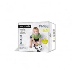 SUAVINEX Pañales de Bebé Talla 5 Maxi (13-18kg) 20 Unidades