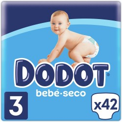 DODOT Pañal Bebé-Seco Talla 3 (6-10 Kg) 42 unidades