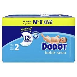 DODOT Pañal Bebé-Seco Talla 2 (4-8 Kg) 46 unidades