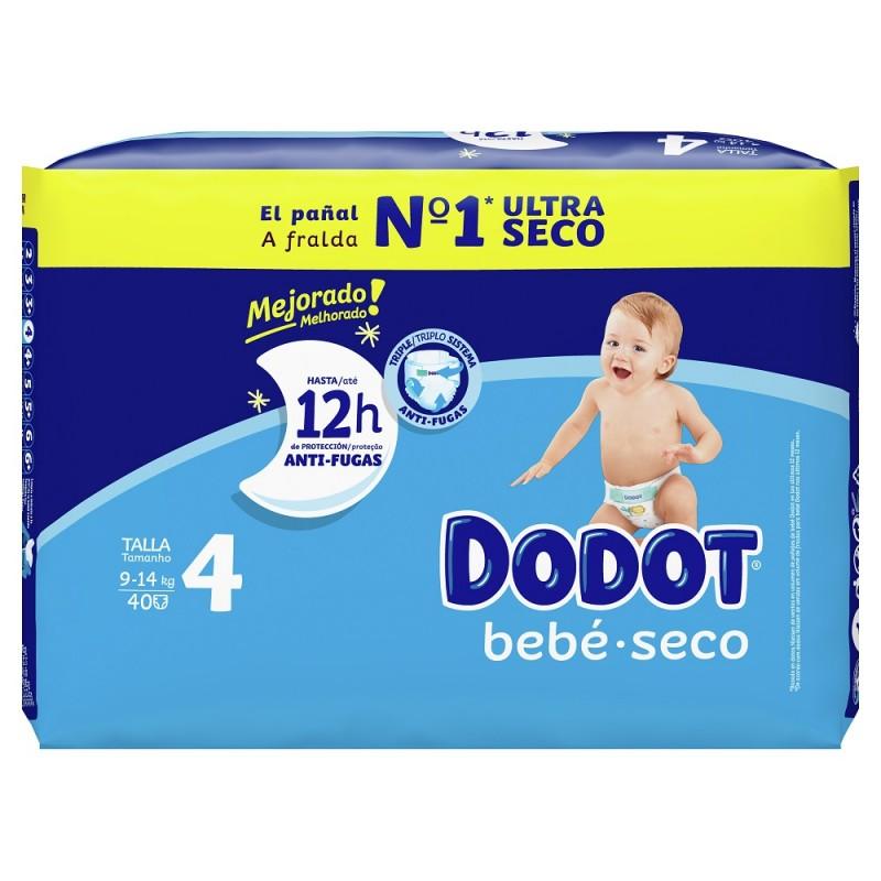 DODOT Pañal Bebé-Seco Talla 4 (9-14 Kg) 40 unidades