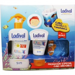 LADIVAL Niños Pack Spray Piel Atópica SPF50+ (200ml) + Crema Facial 50ml + REGALO