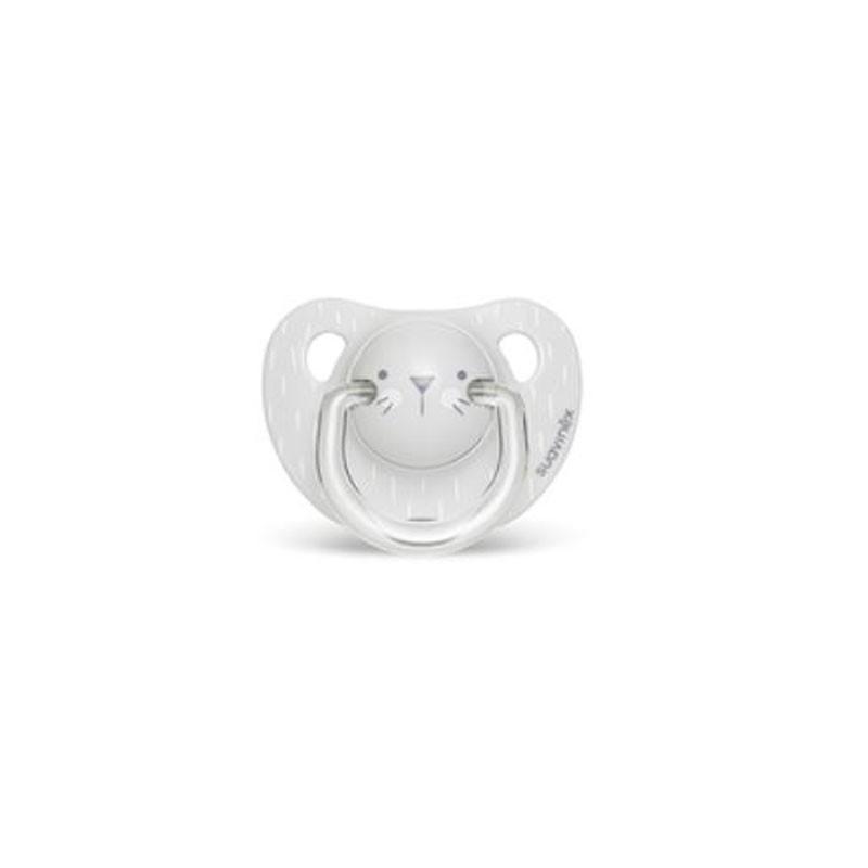 SUAVINEX Chupete Premium Tetina Anatómica Silicona 6-18M (Hygge Gris)