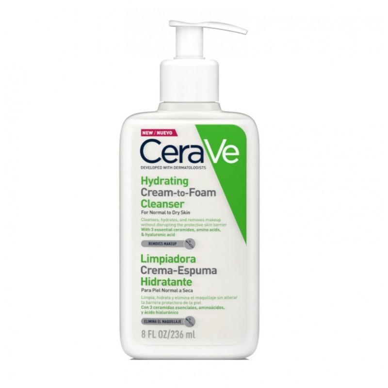 CERAVE Crema - Espuma Hidratante Limpiadora 236ml