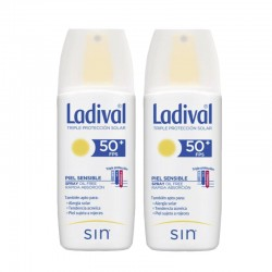 LADIVAL Protector Solar Spray SPF 50+ Piel Sensible DUPLO 2x150ml