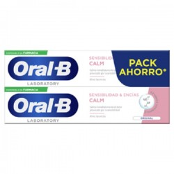 ORAL-B Pasta Dental Sensibilidad y Encías Calm Original PACK AHORRO 2x100ml