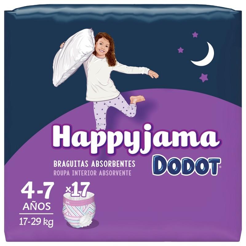 DODOT Happyjama Pañal Niña 4-7 años Braguitas Absorbentes 17 unidades