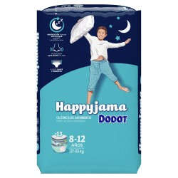 DODOT Happyjama Pañal Niño 8-12 años Calzoncillos Absorbentes 13 unidades