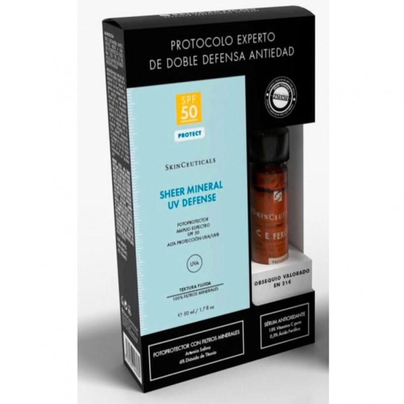 SKINCEUTICALS Sheer Mineral UV Defense SPF50 (50ml) + Sérum CE Ferulic de REGALO