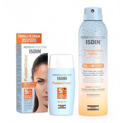 ISDIN Fusion Water SPF50 (50ml) + Spray Transparente Wet Skin 100ml PACK ISDIN FOTOPROTECCIÓN